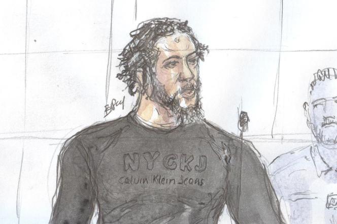 Tyler Vilus entendu par la cour d'assises spécialement composée de Paris, ici le 25 juin.