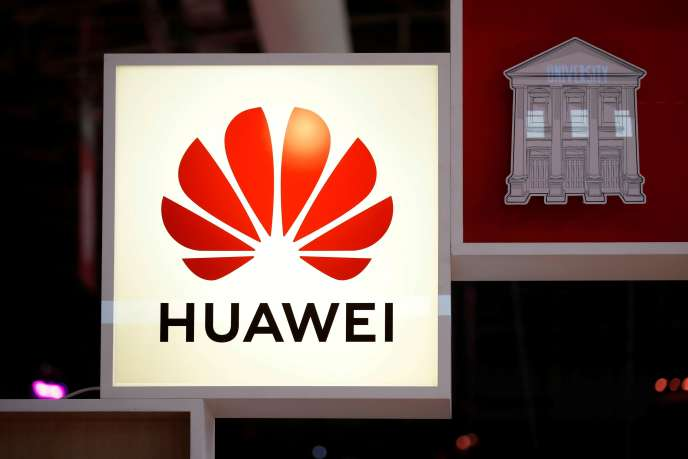Le logo du groupe chinois de télécommunications Huawei.