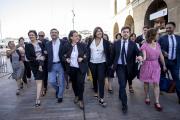 Les chefs de file du Printemps marseillais, à Marseille, le 4 juin 2020.