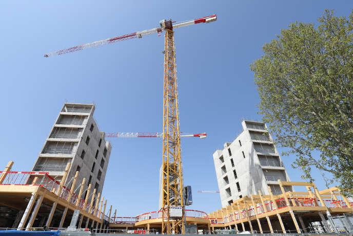Un chantier à Gennevilliers, près de Paris, le 20 avril.