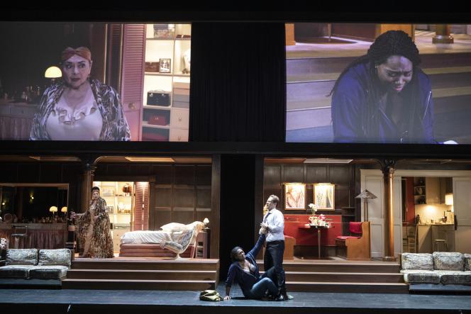 La « Tosca » mis en scène par Christophe Honoré au Festival d'Aix-en-Provence en 2019.