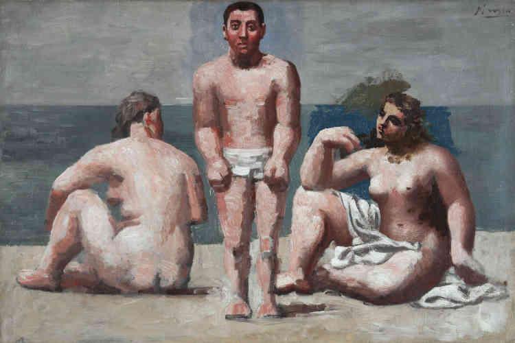 «Ce tableau est caractéristique chez Picasso de cette période de retour à une peinture d'esprit classique. Dans cette scène de plage, le musée n'est pas loin: deux figures féminines inspirées d'Ingres encadrent un jeune homme cézannien.»