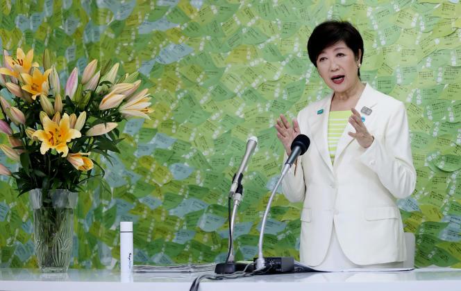 Yuriko Koike, le 5 juillet, à Tokyo.