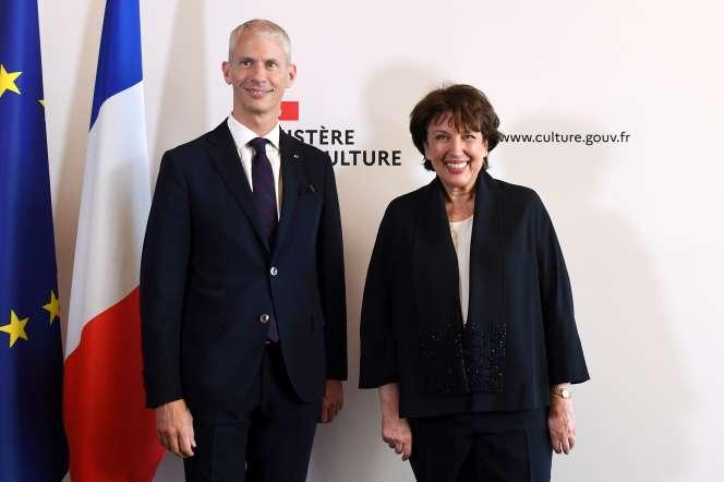 Franck Riester cède sa place à la culture à Roselyne Bachelot, le 6 juillet.