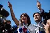 Michèle Rubirola et Benoit Payan à l'issue du conseil municipal de Marseille, samedi 4 juillet.