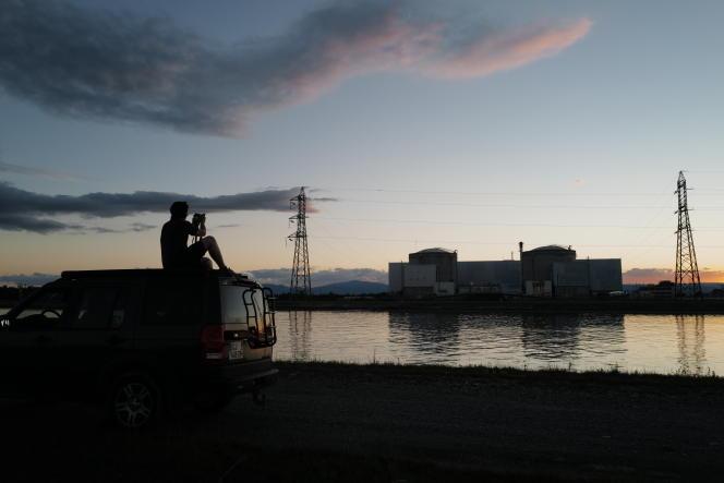 La centrale nucléaire de Fessenheim (Haut-Rhin), le jour de sa mise à l'arrêt définitif, le 29 juin.