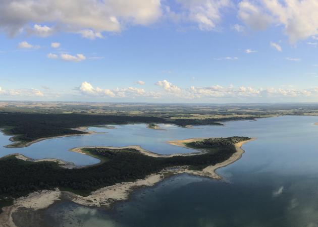 Le lac d'Orient, dans l'Aube.