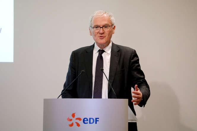 Le PDG d'EDF, Jean-Bernard Lévy, le 14 février, à Paris.