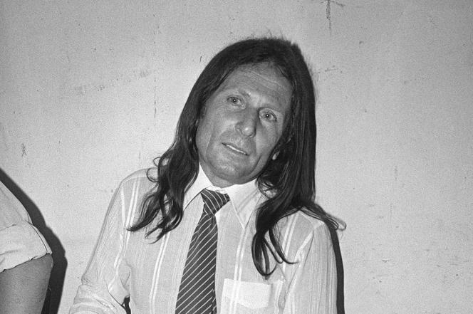 Joseph-Thomas Recco attendant le verdict lors de son procès, au palais de justice de Draguignan (Var), enjuin 1983.