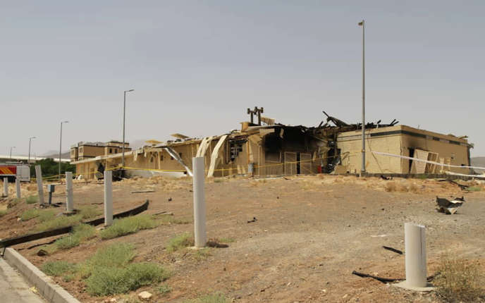 Le complexe nucléaire iranien de Natanz, endommagé après une explosion, le 2 juillet.