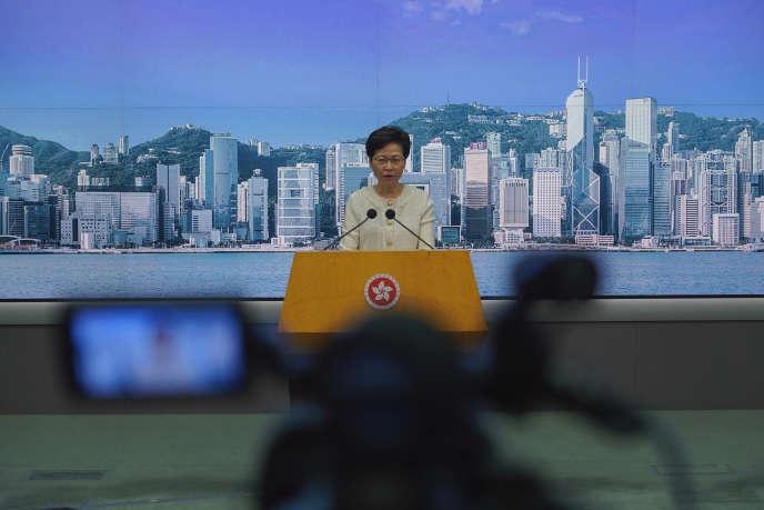 La chef de l'exécutif hongkongais, Carrie Lam, le 7 juillet 2020.