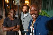 Lucien Jean-Baptiste,Fabrice Eboué,Jean-Pascal Zadi, dans« Tout simplement noir» de Jean-Pascal Zadi.
