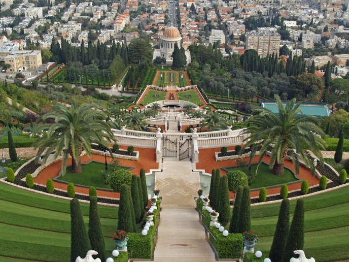Le mausolée du Bab au sommet du mont Carmel à Haïfa. Le site est classé au Patrimoine mondial de l'Unesco.