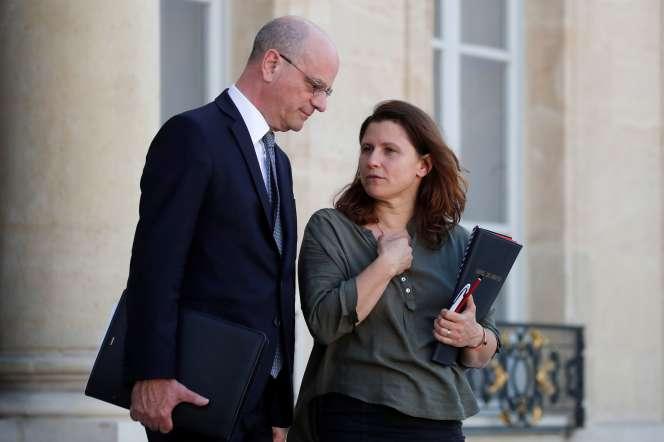 Le ministre de l'éducation, Jean-Michel Blanquer, et la ministre des sports,Roxana Maracineanu, le 7 juillet à l'Elysée.