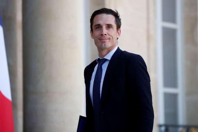 Le ministre délégué aux transports,Jean-Baptiste Djebbari, à l'Elysée, le 7 juillet.
