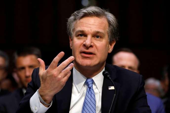 Le directeur du FBI, Christopher Wray.