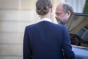 Eric Dupond-Moretti lors de son arrivée au conseil des ministres au palais de l'Elysée à Paris, le 7 juillet.
