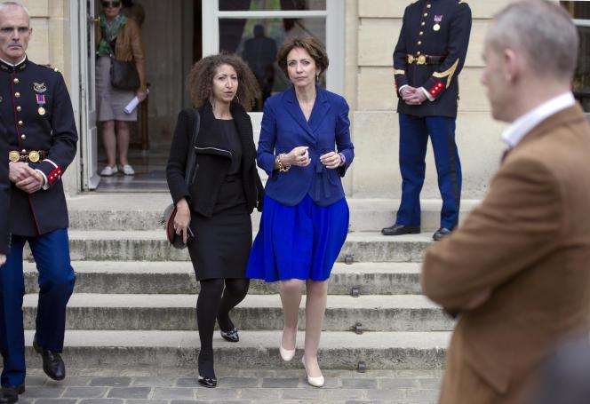 Mayada Boulos et Marisol Touraine, alors ministre de la santé, le 3 juin 2013 à Matignon.