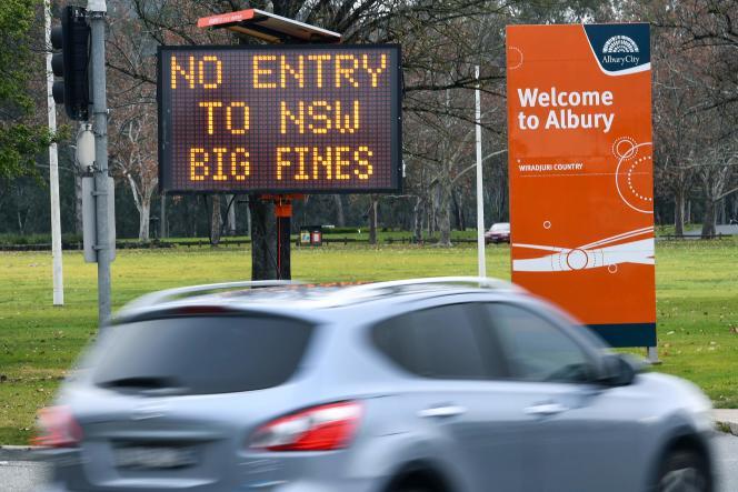 Depuis mardi minuit, l'Etat de Nouvelle-Galles du Sud est isolé du reste de l'Australie après la fermeture de ses frontières.