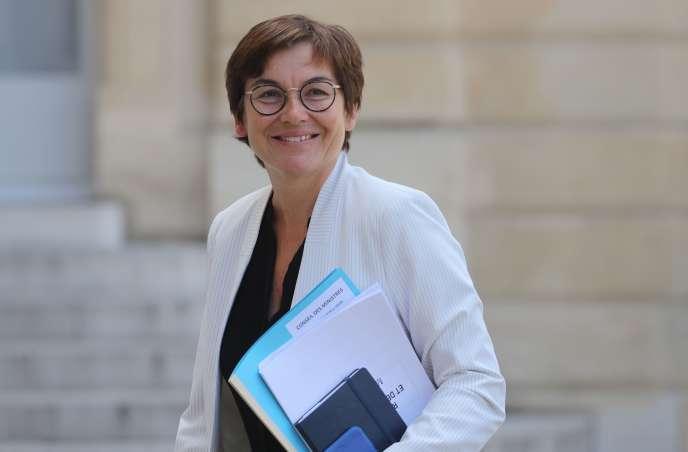 La nouvelle ministre de la mer, Annick Girardin, le 7 juillet 2020, à l'Elysée.
