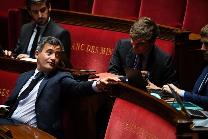 Gérald Darmanin à l'Assemblée nationale à Paris, le 10 juin.