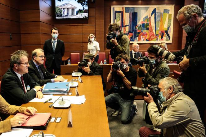 Martin Hirsch, directeur de l'AP-HP, entendu par la commission d'enquête parlementaire sur la crise sanitaire à Paris, le 6 juillet.