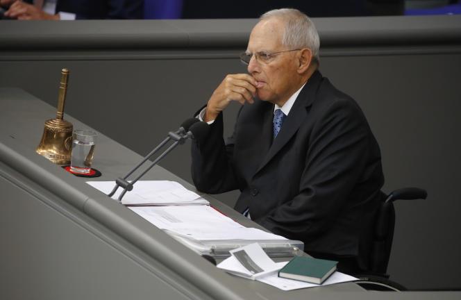 Wolfgang Schäuble, le président du Bundestag, le 29 mai à Berlin.