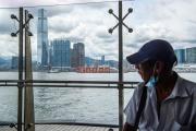 Vue sur Hongkong depuis Victoria Harbour, au23eanniversairedu rattachement de ce territoire à la Chine, le 1er juillet.