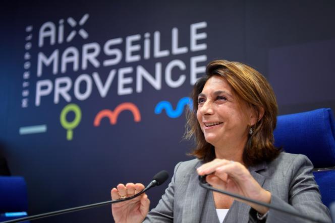 Martine Vassal, présidente de la communauté de communes Aix-Marseille, le 20 septembre 2018.