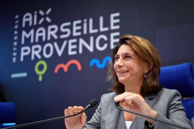 Martine Vassal, candidate LR à la mairie de Marseille, en septembre 2018.