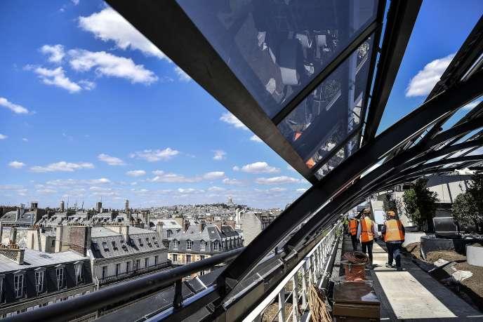 Un chantier de rénovation à Paris, le 7 juillet.