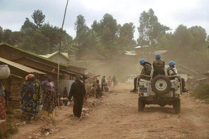 Soldats de la Mission des Nations unies en République démocratique du Congo, la Monusco, en Ituri, dans l'est de la RDC, le 13 mars 2020.