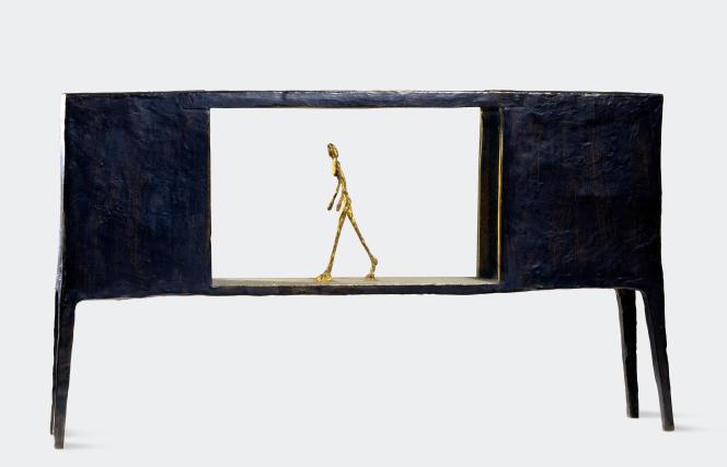 «Figurine dans une boîte entre deux maisons» (1950), de Alberto Giacometti.