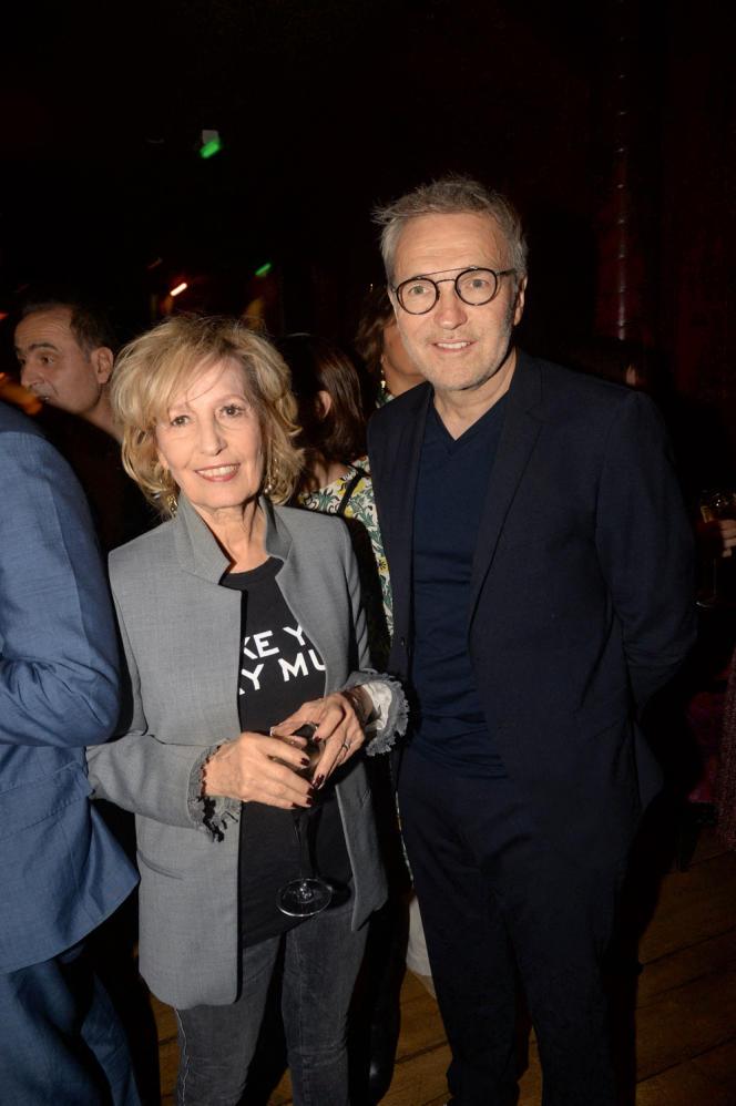 Catherine Barma et Laurent Ruquier, au Buddha-Bar, à Paris, en octobre2018.