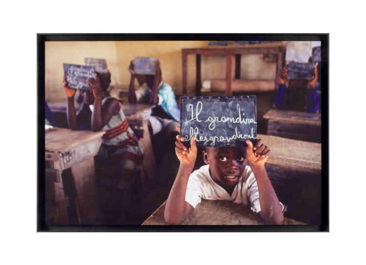 José Nicolas,« Ecole de Grand-Bassam, Côte d'Ivoire,», 2005. Subligraphie, édition 4/12 (50 cm x 75 cm, 1 200 euros).