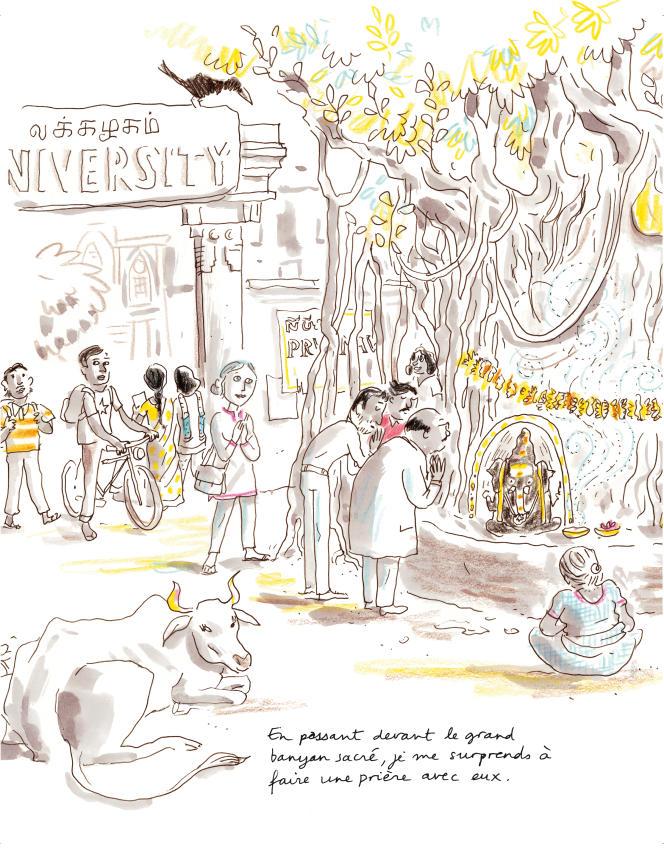 Une planche extraite de « Rita sauvée des eaux», de Sophie Legoubin-Caupeil et Alice Charbin.