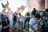 Manifestation antigouvernementale, le 8 juillet à Belgrade.