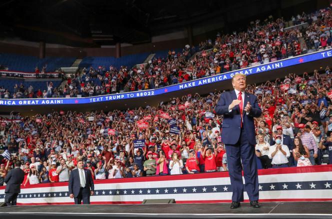 Meeting de campagne de Donald Trump le 20 juin à Tulsa.