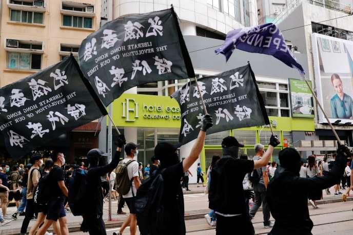 Manifestation contre la loi de sécurité nationale à Hongkong le 1er juillet.
