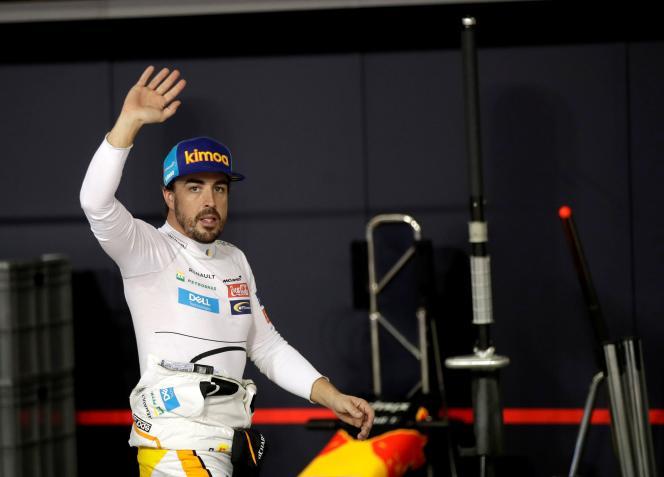 Fernando Alonso, sur le circuit Yas Marina d'Abu Dhabi, fin novembre 2018.