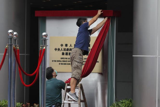Peu après l'inauguration du nouveau Bureau de sécurité installé par Pékin à Hongkong, le 8 juillet.