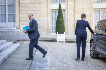 Le premier ministre, Jean Castex, avant le conseil des ministres au palais de l'Elysée à Paris, le 7 juillet.