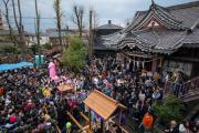 Le Kanamara matsuri (festival du phallus de fer) à Kawasaki, en 2014.