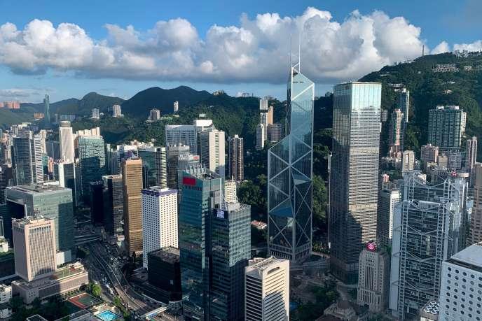 Vue du quartier d'affaires de Hongkong, le 25 juillet 2019.