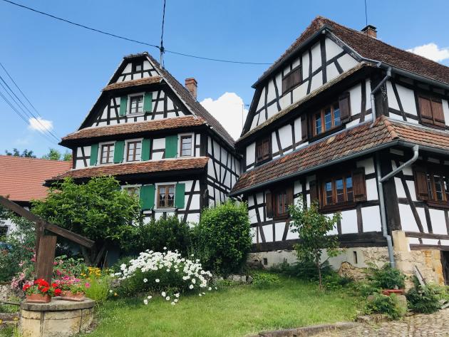 À Hunspach (Bas-Rhin).