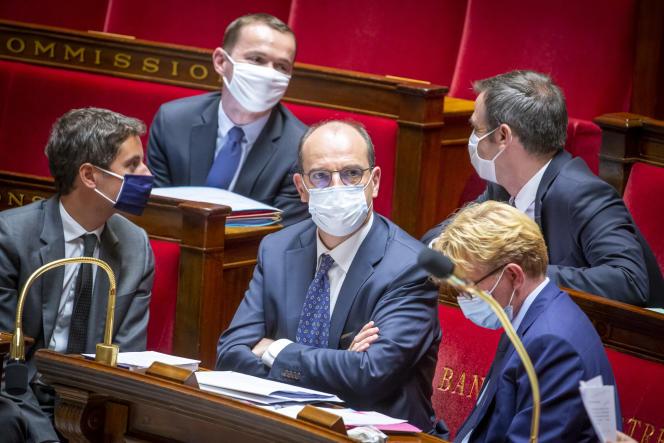 Le premier ministre, Jean Castex, lors d'une séance de questions au gouvernement à l'Assemblée nationale à Paris, le 8 juillet.