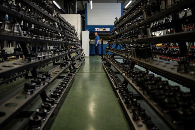 L'usine de Cauquil SAS, sous-traitant d'Airbus, à Mondouzil (Haute-Garonne), le 5 juin.