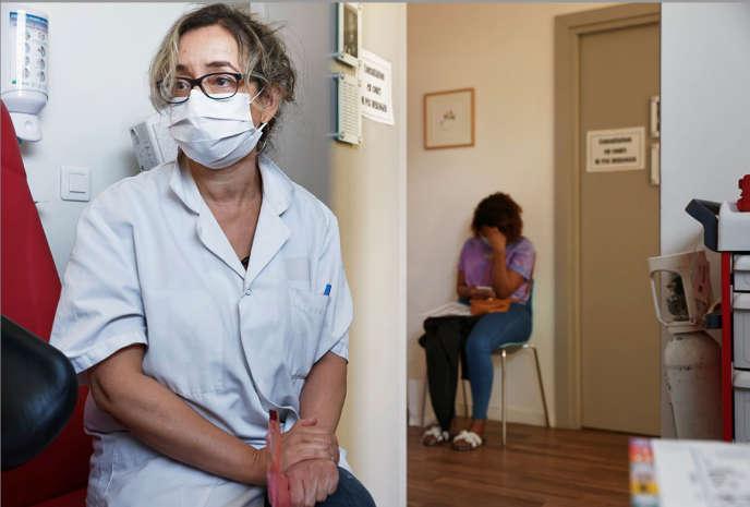 A l'unité Planning familial de la Maison des femmes de Saint-Denis (93), le 20 mai.
