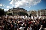 Manifestation à Paris, sur la place de l'Hôtel de ville, vendredi 10 juillet.