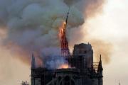 Notre-Dame de Paris en feu, le 15 avril 2019.